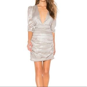 Revolve Saylor Silver Madonna Dress